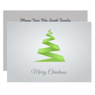 Cartão Árvore de Natal simples da fita do Natal
