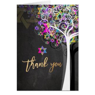 Cartão Árvore de PixDezines de vida/obrigado você/quadro