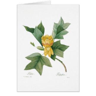 Cartão Árvore de tulipa