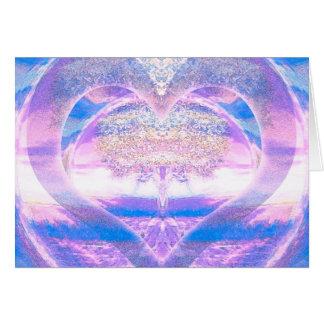 Cartão Árvore de vida com coração