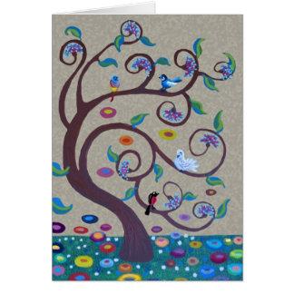 Cartão Árvore de vida - estilo do nouveau da arte