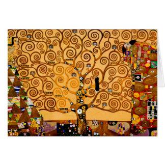 Cartão Árvore de vida por belas artes de Gustavo Klimt