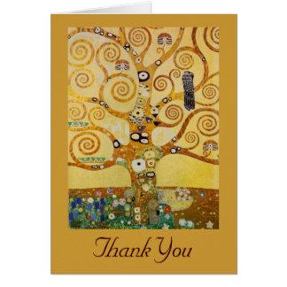 Cartão Árvore de vida por Klimt