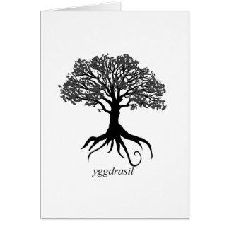 Cartão Árvore de Yggdrasil de vida