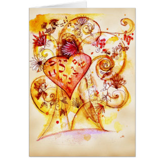 Cartão árvore do amor