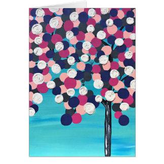 Cartão Árvore do círculo