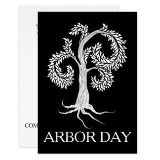 Cartão árvore do dia de mandril pela abadia adoptiva