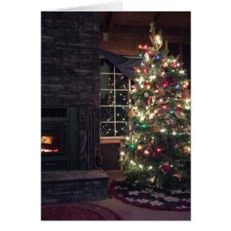 Cartão Árvore do Feliz Natal