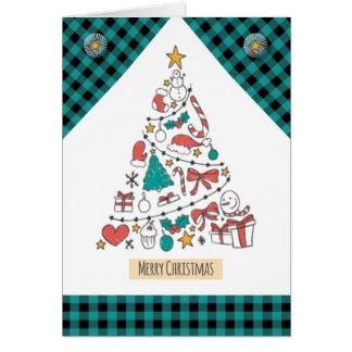 Cartão Árvore do ícone do Feliz Natal