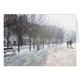 Cartão Árvore do inverno em Praga (república checa)