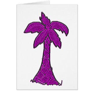 Cartão árvore do palmetto de South Carolina