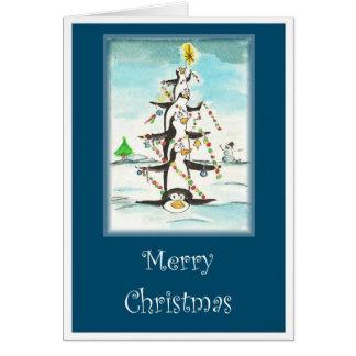 Cartão Árvore do pinguim