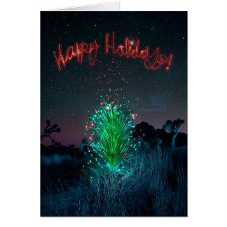 Cartão Árvore elétrica da mandioca do Xmas