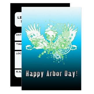 Cartão Árvore feliz da fidelidade do dia de mandril
