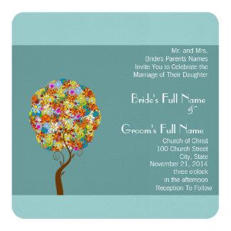 Cartão Árvore floral Enchanted do conto de fadas dos