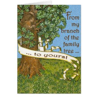 Cartão Árvore genealógica Notecards
