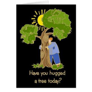Cartão Árvore Hugger