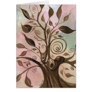 Cartão Árvore lunática Notecard