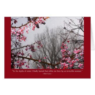 Cartão Árvores de fruta do inverno