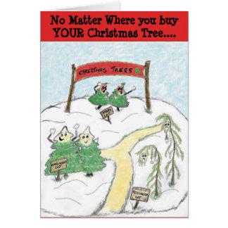 Cartão Árvores de Natal do lote do optimista