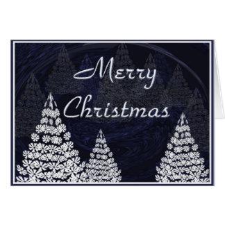 Cartão Árvores de Natal estilizados