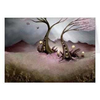 Cartão Árvores do globo ocular