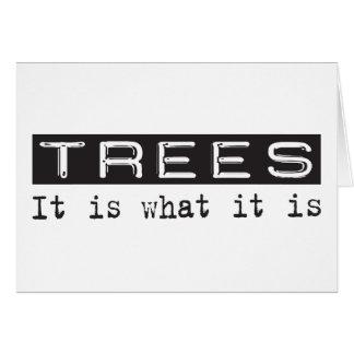 Cartão Árvores é