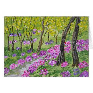 Cartão Árvores e flores de Dixie
