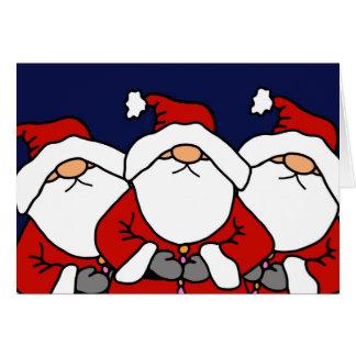 Cartão As 3 Santa