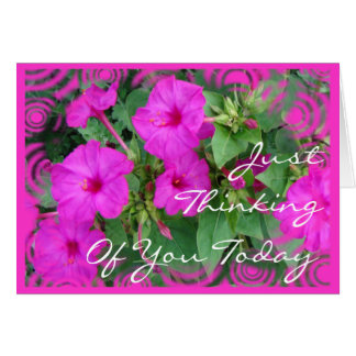 Cartão As 4 horas brilhante do PK flor-personalizam toda