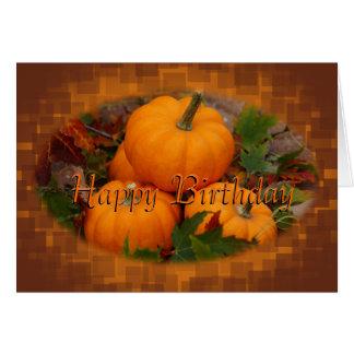 Cartão As abóboras & as folhas de outono personalizam