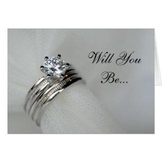Cartão As alianças de casamento querem-no sejam meu