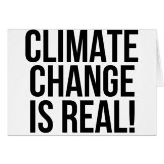 Cartão As alterações climáticas são reais! Mundo da terra