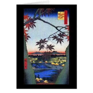 Cartão As árvores de bordo - Ando Hiroshige