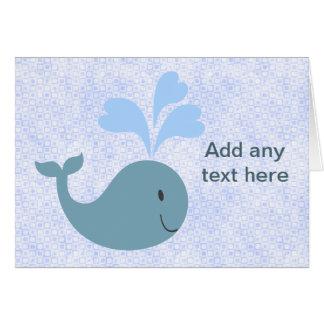 Cartão As baleias azuis bonitos adicionam seu texto