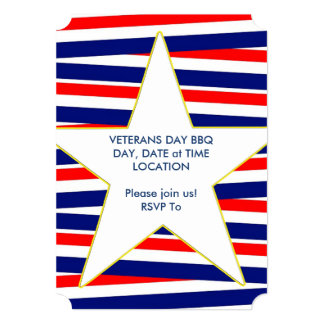 Cartão As bandas do partido do dia de veteranos da