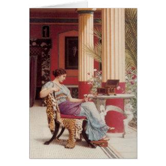 Cartão As belas artes do caixão de jóia