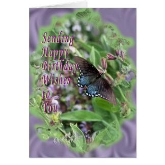 Cartão As borboletas & Sábio-personalizam-no