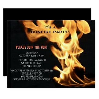 Cartão As chamas da fogueira do partido da fogueira