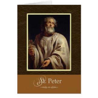 Cartão As chaves de St Peter ao reino, Pray para nós