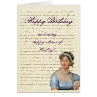 Cartão As citações de Jane Austen escrevem seu próprio