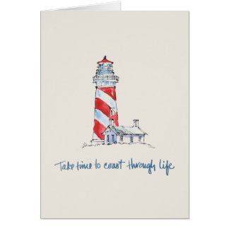 Cartão As citações litorais   tomam o tempo costear com a