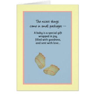 Cartão As coisas as mais agradáveis vêm em pacotes
