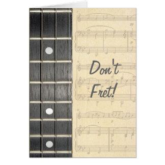 Cartão As cordas Fretboard do banjo não desgastam o