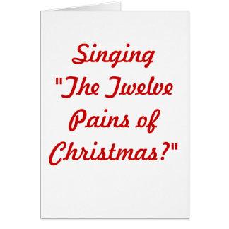 Cartão As doze dores do Natal