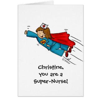 Cartão As enfermeiras são heróis - dia feliz das