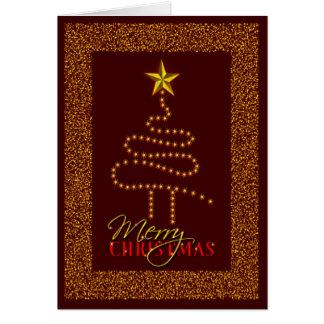 Cartão As estrelas do ouro abstraem a obscuridade feita