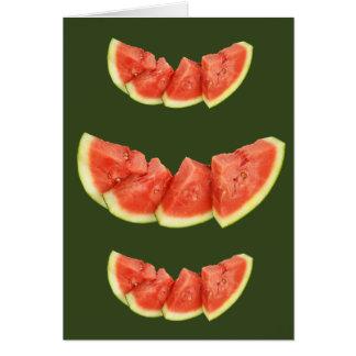 Cartão As fatias da melancia arredondaram triângulos