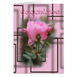 Cartão As felicitações cor-de-rosa do KO fazem toda a