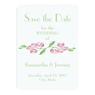 Cartão As flores da flor de cerejeira do primavera salvar